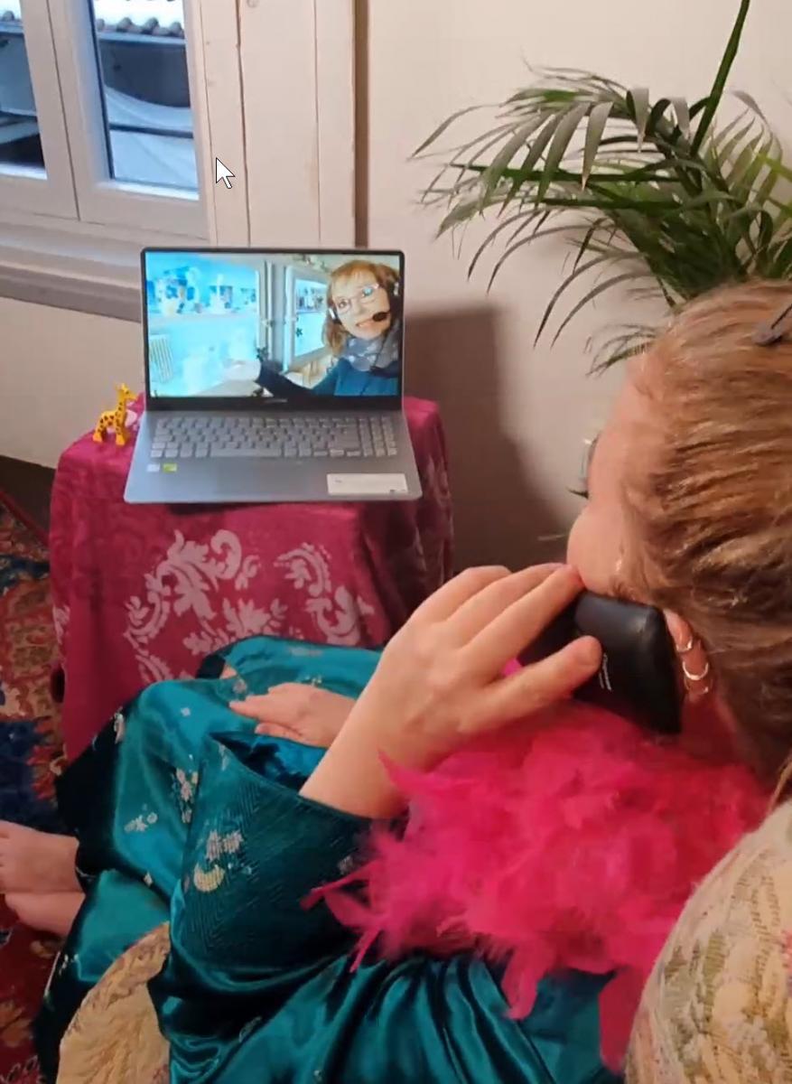 Videoberatung bei der Bücherblume